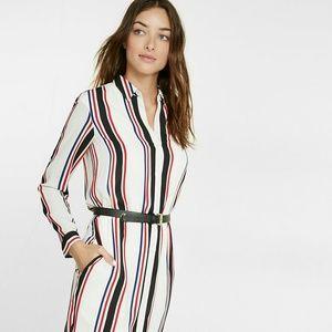 express stripe mini dress